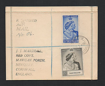 Virgin Islands - Registered Cover With Silver Wedding Issue