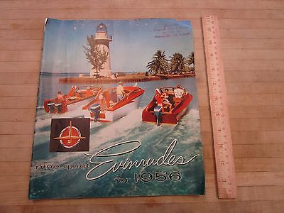 1956 Evinrude Outboard Motor 24-Page Deluxe Color Sales Catalog+ Price List
