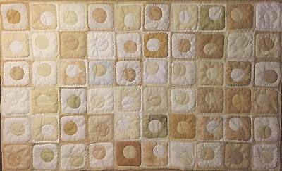 Modern handmade quilted Wall Art in neutrals of whites, creams, & tans