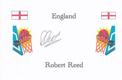 Basketball: Robert Reed (England) signed card