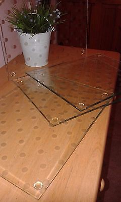Placemats, Glass Set Of 4