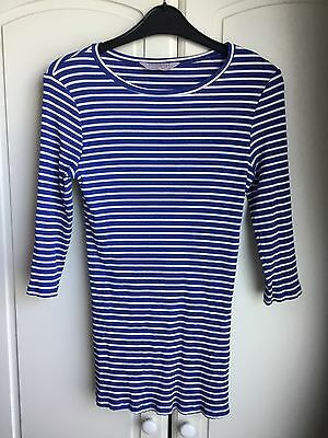 Dorothy Perkins Blue And White Maternity Top Size 8