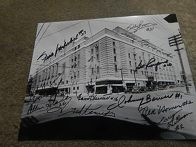 Maple Leaf Garens autographed 8x10 by 11(Horner,Armstrong,Kennedy,Mahovlich