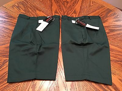Girl Scouts 2 Pair Size 10 Vintage Green Shorts NEW