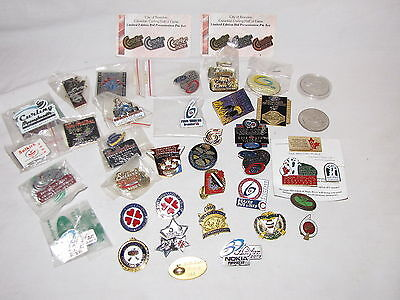 Vintage and Newer Curling Pin Collection 45 Pin/Coin Lot