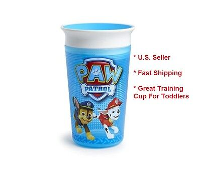 Munchkin PAW Patrol Miracle 360 Spill Free Sippy Cup, Blue, 9 Oz Kids Toddler