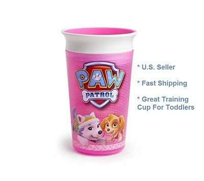 Munchkin PAW Patrol Miracle 360 Spill Free Sippy Cup, Pink, 9 Oz Kids Toddler