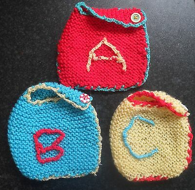 Set of 3 BABY bibs (Made with Love by MR) ABC