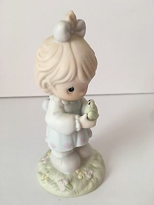 Precious Moments 1995 Figurine Have I TOAD You Lately That Love Frog Girl Figure