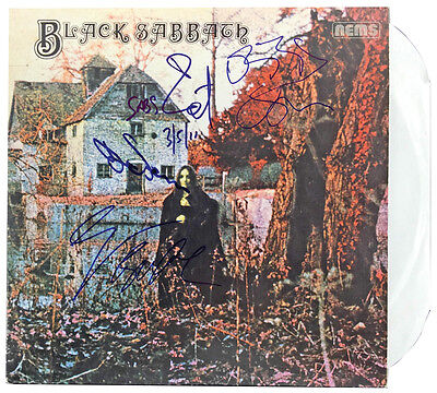 Black Sabbath Group Signed Album 1St Lp All 4 Members Ozzy Iommi Psa/dna Aa03983