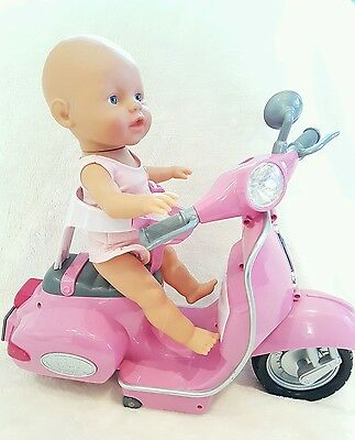 BABY BORN DOLL PINK SCOOTER TOY FROM ZAPF CREATION - NO REMOTE - Rare toy