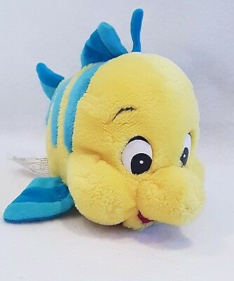"""New*Flounder from The Little Mermaid 8"""" plush soft toy by Disney Store new"""