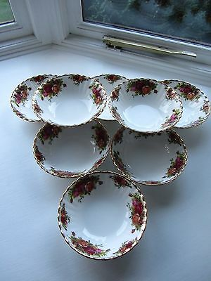 """Royal Albert """"old Country Roses"""" 8 X Cereal Dishes/bowls  - England"""