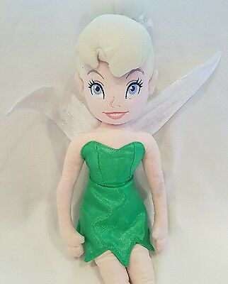 Disney Store Tinkerbell Fairy Peter Pan  Large Plush Soft Doll Toy Rare