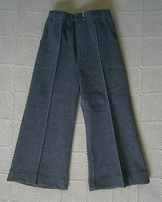 Vintage Stretch Flared Trousers - Age 2-92 cm - Grey Marl -Zip Front  - New