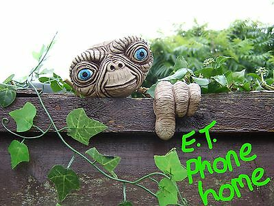 E.T Tree Face. Garden ornament, statue, sculpture, decoration, handmade gifts