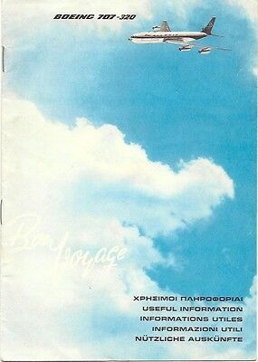 Olympic Airways Boeing 707-320 Vintage Safety Card Booklet Greece