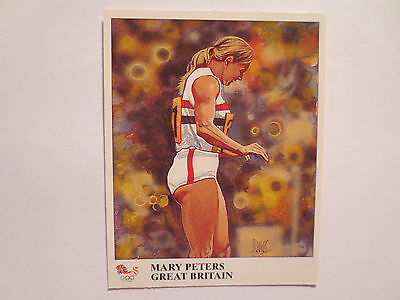 Mary Peters Great Britain Pentathlon Gold Medal Munich Olympics Champions Card