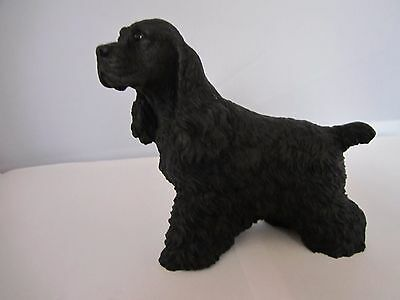 Cocker black  dog figure model ornament by Castagna hand made in Italy new