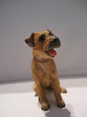 Border Terrier dog figure Castagna sitting model ornament hand made in Italy new