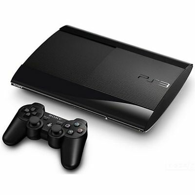 Ps3 Slim Console 12Gb Charcoal Black & 2 Games Included