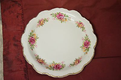 Ornate Scallop Edged Serving Plate Old Foley James Kent Staffordshire England