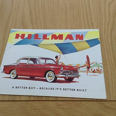 Hillman Minx Range 12 Page Fold Out Small Sales Brochure Ref 649/H c 1959