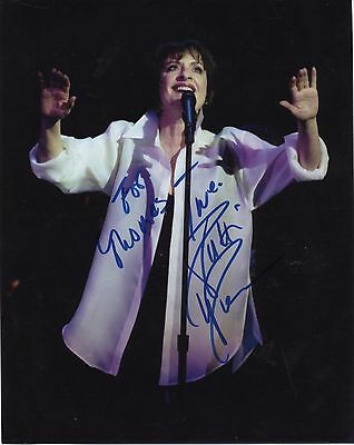 Patti LuPone Autographed Color 8x10 Photo