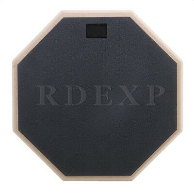 Black 12 inch Wooden Dumb Drum Soft Rubber Double Side Practice Pad Part