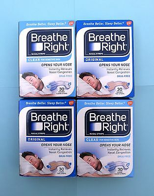 30 Breathe Right Nasal strips Nose stripes of your choice - Breathe better - Box