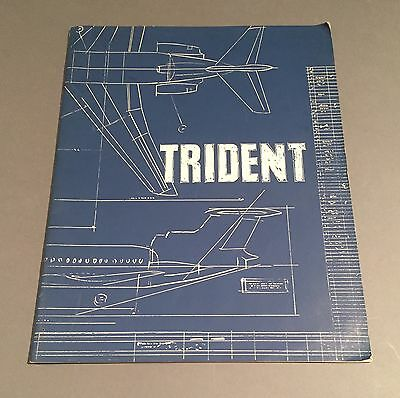Trident Manufacturers Sales Brochure Hawker Siddeley 1964 Cutaway Seat Maps