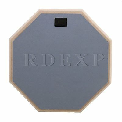 Gray 12 inch Wooden Dumb Drum Soft Rubber Double Side Practice Pad Part