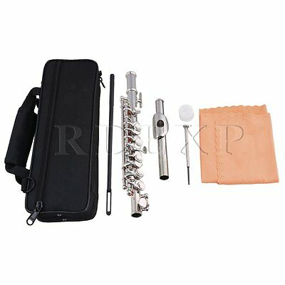 Nickel Plated C Key Piccolo W/ Bag,Joint Grease,Cleaning Cloth and Rod