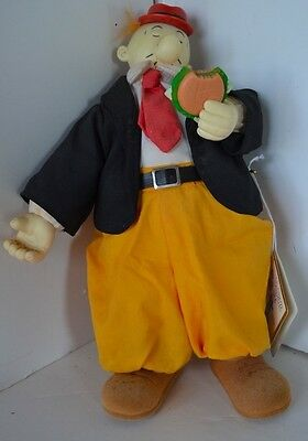 Vintage Popeye Doll Whimpy Hamburger Presents King Feature Syndicate 1985