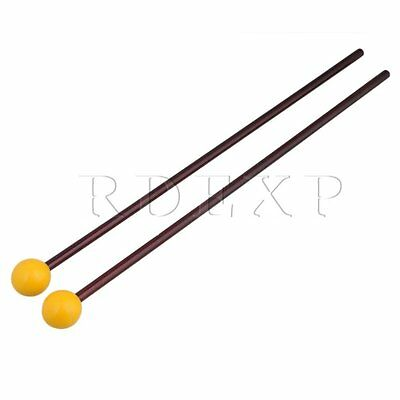 """1 Pair of 15"""" Multi-Purpose Bell Mallet Yellow Rubber Head Maple Handle"""