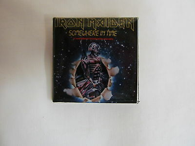 Vintage 80's IRON MAIDEN Somewhere In Time Rock Pin  (G)