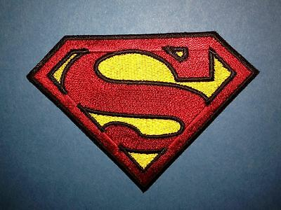 Superman Iron On Embroidered Hat Jacket Hoodie Backpack Patch Crest B