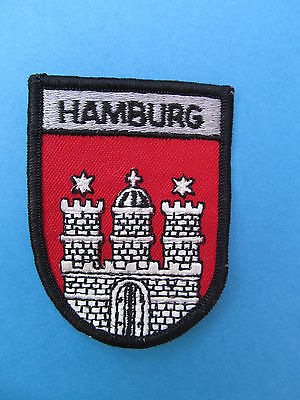 HAMBURG Germany Shield Patch Jacket Biker Vest Backpack Travel Country Crest