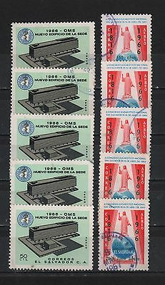 El Salvador 1966 Who New Building Eucharistic Congress Bosco Lot 5 Sc# C231-C232
