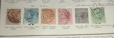 lot early Mauritius stamp used hinged to 19th C album pages