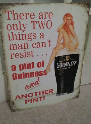 Guinness Draught Beer Sign 1759 Pint Girl Bar Man Cave...
