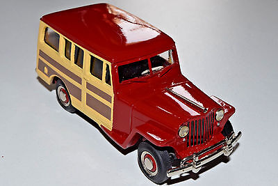 US Model Mint US-7 Jeep Overland Station Wagon Willys 1949 Luzon Red Rare #2