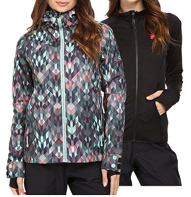 686 SMARTY HAVEN 3 In 1 Womens Snowboard Snow Ski Jacket Kaleidoscope XS