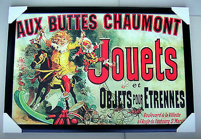 """JOUETS as seen on FRIENDS FRAMED POSTER """"Ready to Hang"""" BLACK TIMBER FRAME"""