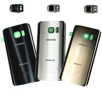 For Samsung Galaxy S7 G930 NEW Rear Battery Back Door Glass + Camera Cover Lens