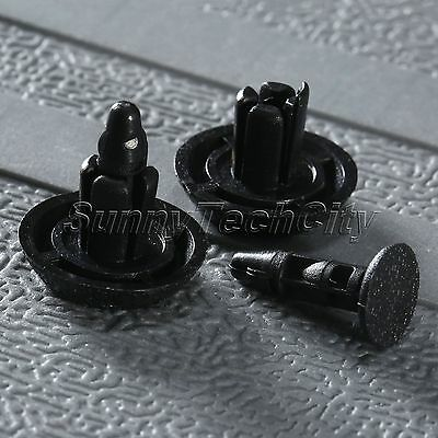 50Pcs Plastic Rivet Guard Mat Trim Push Type Fastener Clips for Toyota Camry Bla