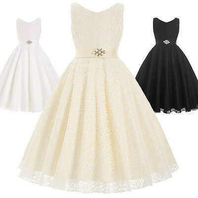 Baby Communion Party Prom Princess Pageant Bridesmaid Wedding Flower Girl Dress