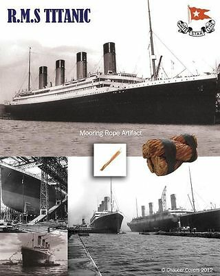 Rms Titanic Genuine Mooring Rope Presentation Rare Historic Collectable