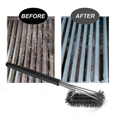 18'' Stainless Steel BBQ Grill Brush Barbecue Cleaning cleaner Tool Woven Wire