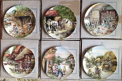 Set 6 Limited Edition Royal Doulton Old Country Crafts Plates Susan Neale BOXED